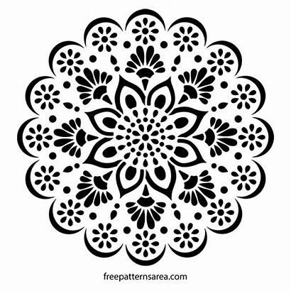 Mandala Stencil Pattern Wall Decal Stencils Flower