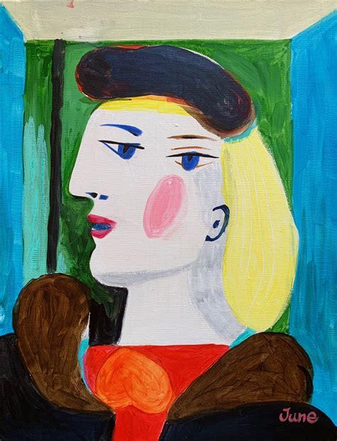 ピカソ Picasso Woman   Artbar Tokyo - Paint and Wine Studio ...