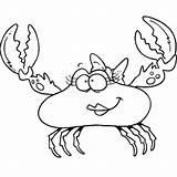 Crab Fiddler Coloring Cartoon Female Designlooter sketch template