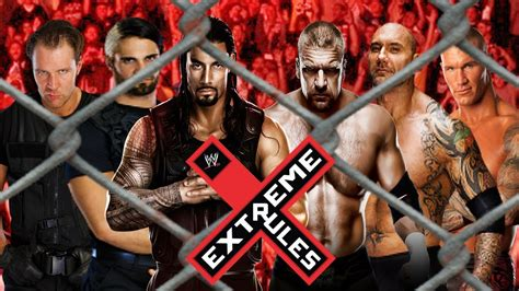 WWE Extreme Rules 2014 : The Shield vs Evolution - YouTube