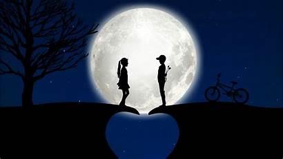 Story Couple Moon Wallpapers 4k Baltana