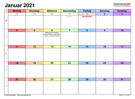 Einfach nur den monat und das jahr auswählen und schon kannst du einen monatskalender im pdf format erzeugen den du ausdrucken kannst. Kalender Januar 2021 als PDF-Vorlagen