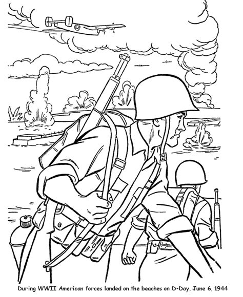 d day coloring pages
