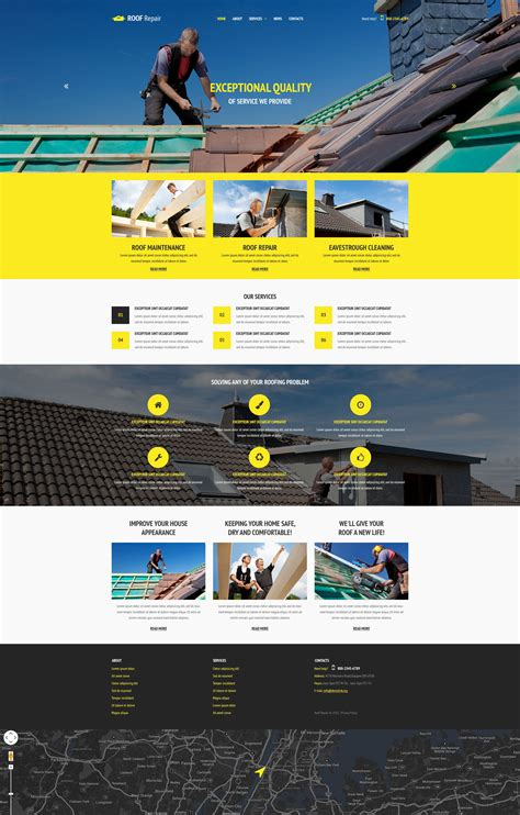 home maintenance services website template