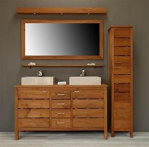 Salle De Bain Teck : meuble salle de bain en teck solde salle de bain id es ~ Edinachiropracticcenter.com Idées de Décoration