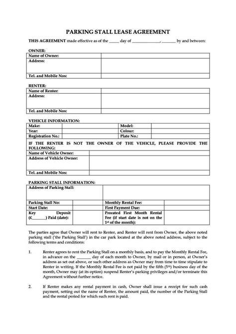 tenancy agreement template uk