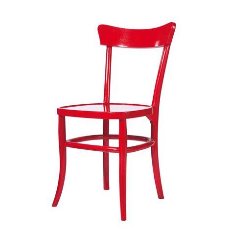 chaises rouges chaise en bois massif bistrot maisons du monde