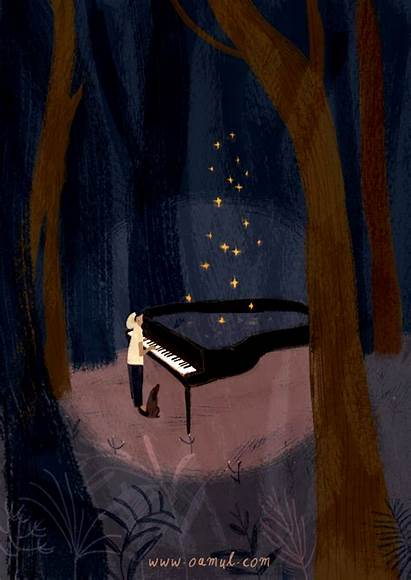 Gifs Piano Gifmaniacos Noche Sky Nuit Sonate