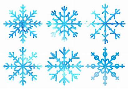 Nieve Neige Schneeflocken Aquarell Flocons Copo Aquarelle