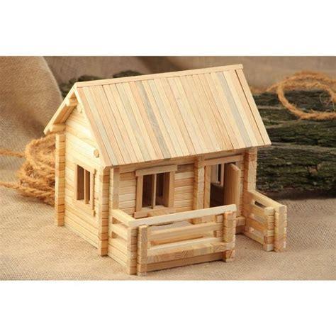 jeu de construction en bois fait maison 208 achat vente objet d 233 coratif cdiscount
