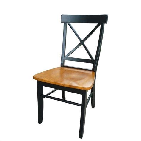 international concepts x back dining chair black cherry