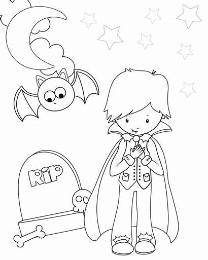 Coloring Halloween Pages Printable Dracula Crazy Hocus