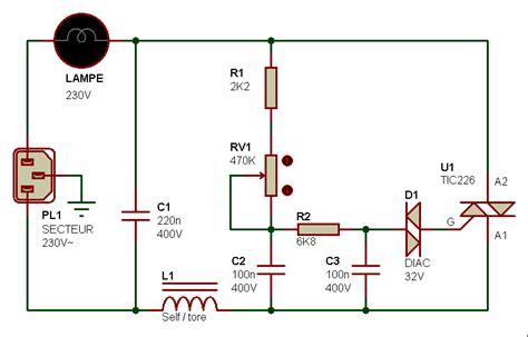 electronique realisations gradateur lumiere 001