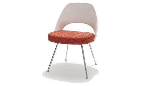 chaise tulipe knoll saarinen plastic back side chair hivemodern com