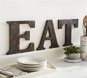 rustic metal letters pottery barn With rustic metal wall letters