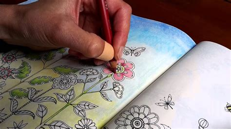 Coloring Pastel by Secret Garden In Pastel Pencil Part 1