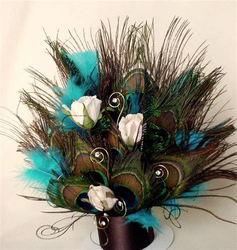 peacock decoratoins peacock cake topper turquoise brown