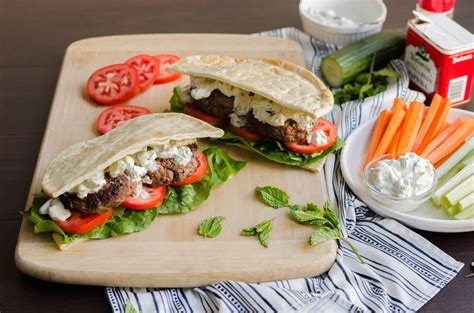 Greek Burger Pita Pocket   Cook Smarts