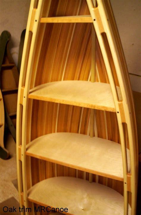 rustic cedar strip bookcase canoe images