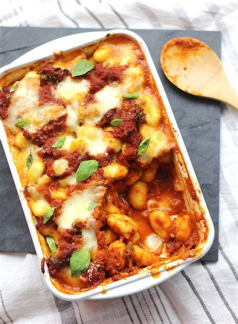 recette de cuisine midi en gratin de gnocchis à la sauce tomate régal