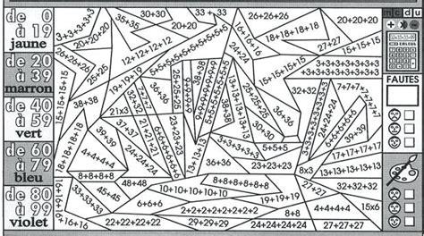 coloriage magique cm  imprimer multiplication coloriage