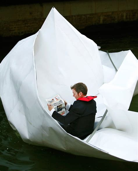 Massive Origami Boat Floats Down The Thames « Origami Wonderhowto