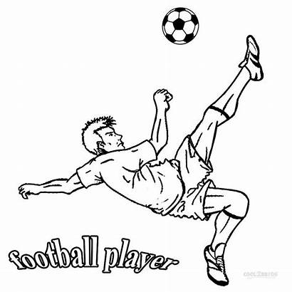 Football Coloring Pages Player Printable Sports Players