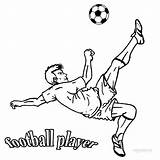 Football Coloring Pages Player Printable Players Cool2bkids Sports Sheets Kid Stars sketch template