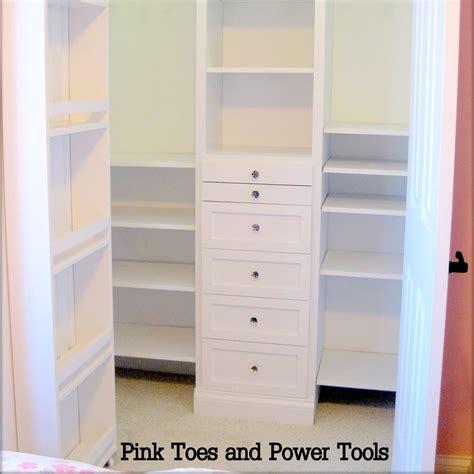 Building Closet Organizers Do It Yourself white closet organizer diy projects
