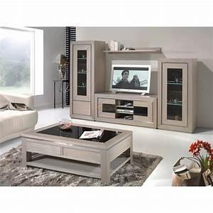Meuble Tv Chene Massif Moderne : living meuble tv contemporain ch ne massif oak meubles elmo ~ Teatrodelosmanantiales.com Idées de Décoration