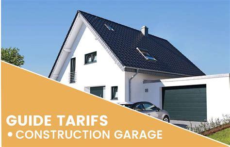 prix de construction d un garage prix au m2 selon taille et mat 233 riaux
