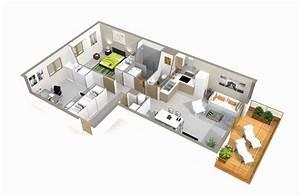 Plan Maison Moderne 3d 4 Chambres