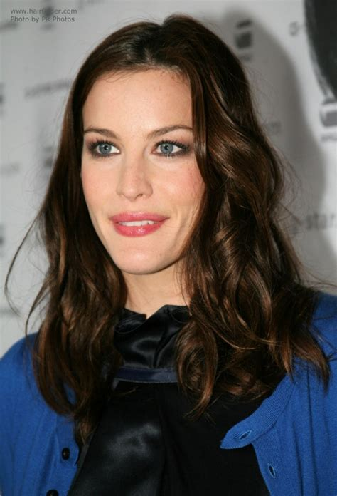 liv tyler   choclocate colored long hair sectioned