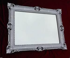 Großer Spiegel Silber : wandspiegel silber barock gro er spiegel antik 90x70 badspiegel retro repro neu kaufen bei ~ Indierocktalk.com Haus und Dekorationen