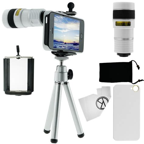 attachment for iphone iphone 5 lens kit lenses telephoto zoom 8x tripod