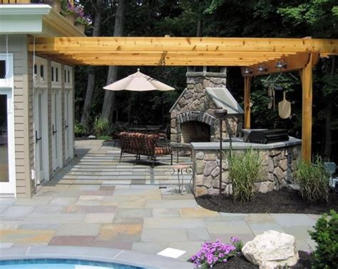 pergola patio ideas pergola and patio cover westfield nj photo gallery landscaping network