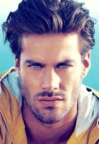 handsome scruffy male model mens hairstyles medium