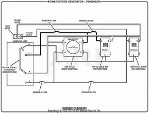 Homelite Ps906025pa Powerstroke 6 000 Watt Generator Parts Diagram For Wiring Diagram
