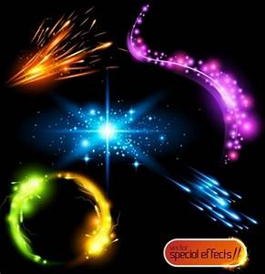 Glowing light vector free free vector