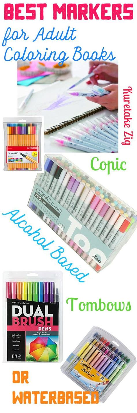 best markers for adult coloring books alcohol based