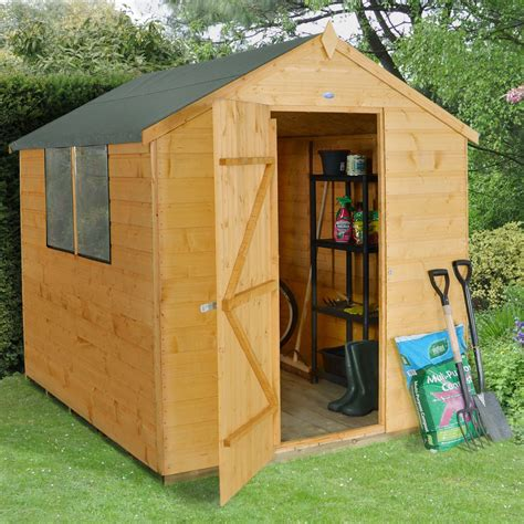 Small Sheds B Q by 8x6 Apex Shiplap Wooden Shed Departments Diy At B Q