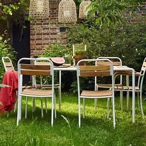 Salon De Jardin Metal : salon de jardin en bois et m tal fsc bois dessus bois ~ Dailycaller-alerts.com Idées de Décoration