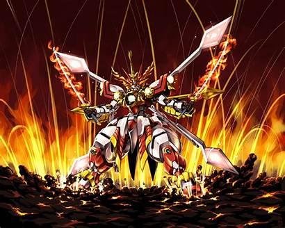 Gundam Anime Fire God Knight Mecha Burning