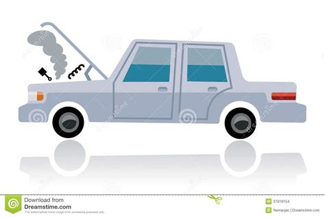 Car Broken, Auto Defect Stock Illustration. Illustration