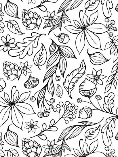 Coloring Fall Pages Adults Halloween Autumn Books