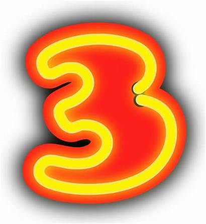 Neon Number Transparent Background Sign Numerals Numeral