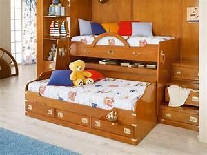 Lit Superposé Escalier : lit superpose bois massif ~ Premium-room.com Idées de Décoration