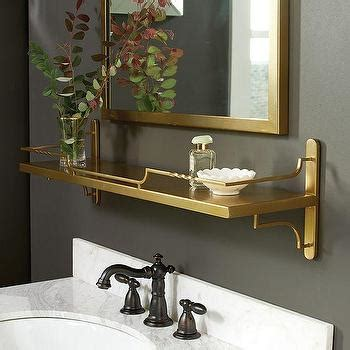 Bedroom Mirrors With Shelf by Bastille Gold Wine Shelf