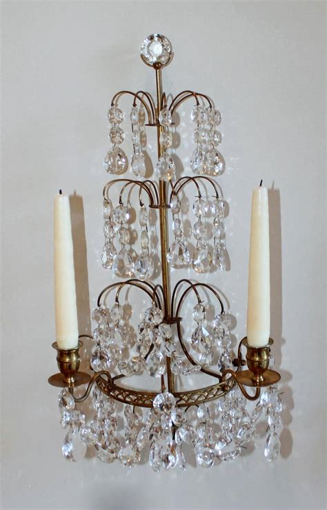 Candle Wall Sconces by Pair Of Swedish Gustavian Style And Bronze Candle