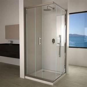 la douche masalledebaincom With porte de douche coulissante avec revetement plastique mural salle de bains